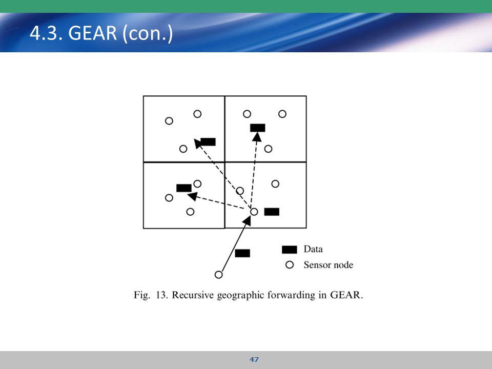 4.3. GEAR (con.) 47