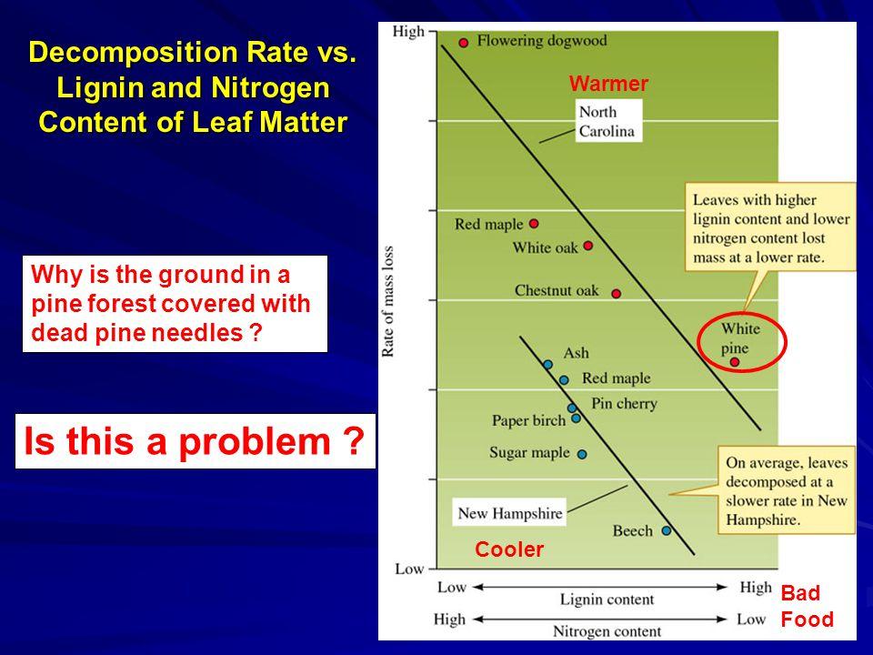 Decomposition Rate vs.