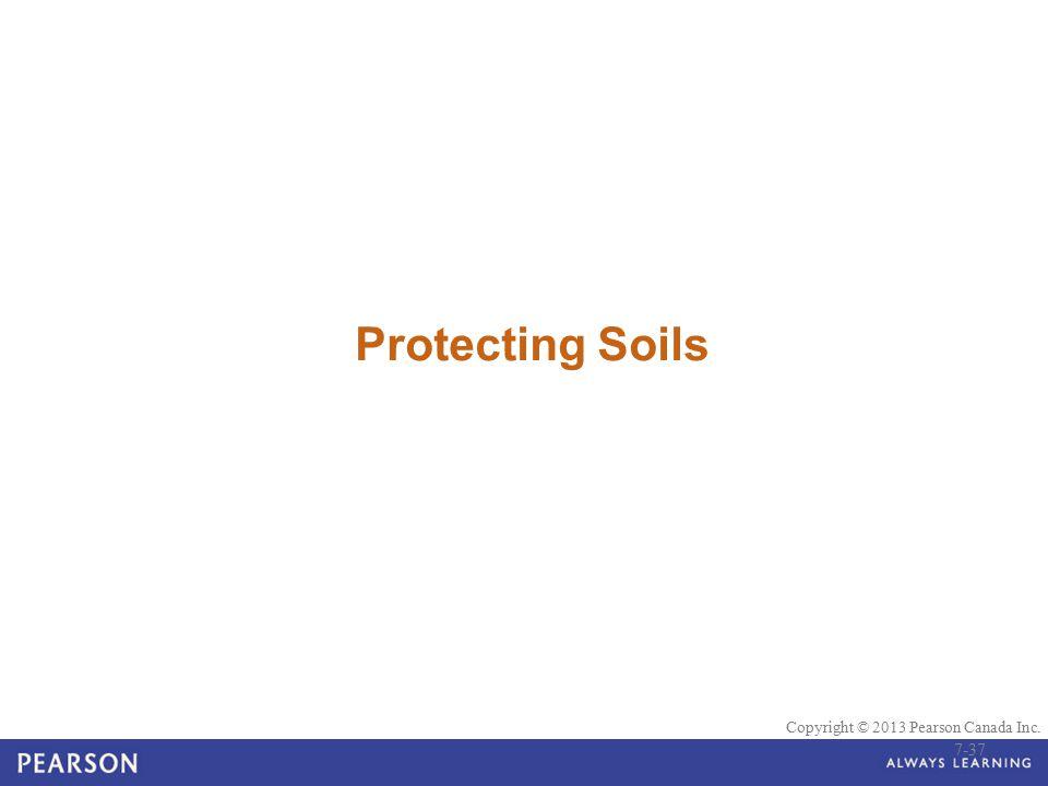 © 2010 Pearson Education Canada Copyright © 2013 Pearson Canada Inc. Protecting Soils 7-37
