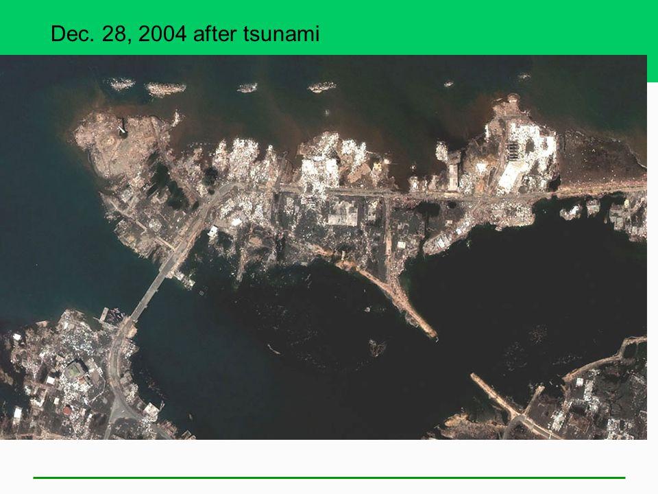 Dec. 28, 2004 after tsunami
