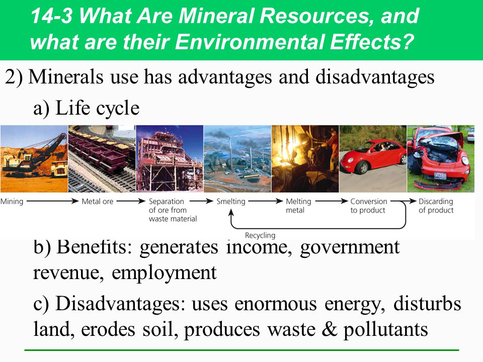 14-3 What Are Mineral Resources, and what are their Environmental Effects.