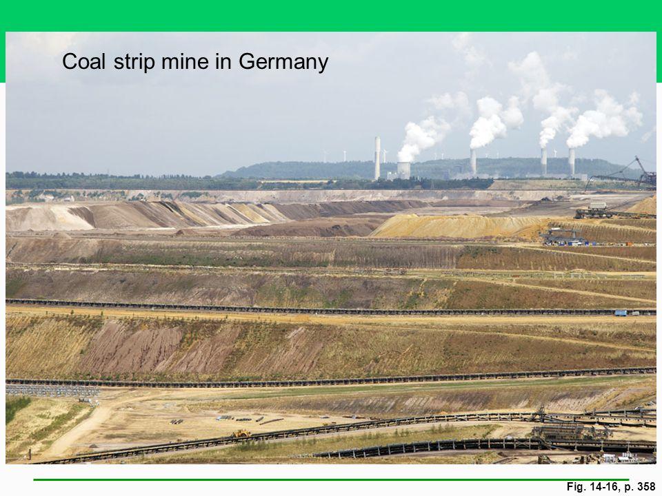 Fig. 14-16, p. 358 Coal strip mine in Germany