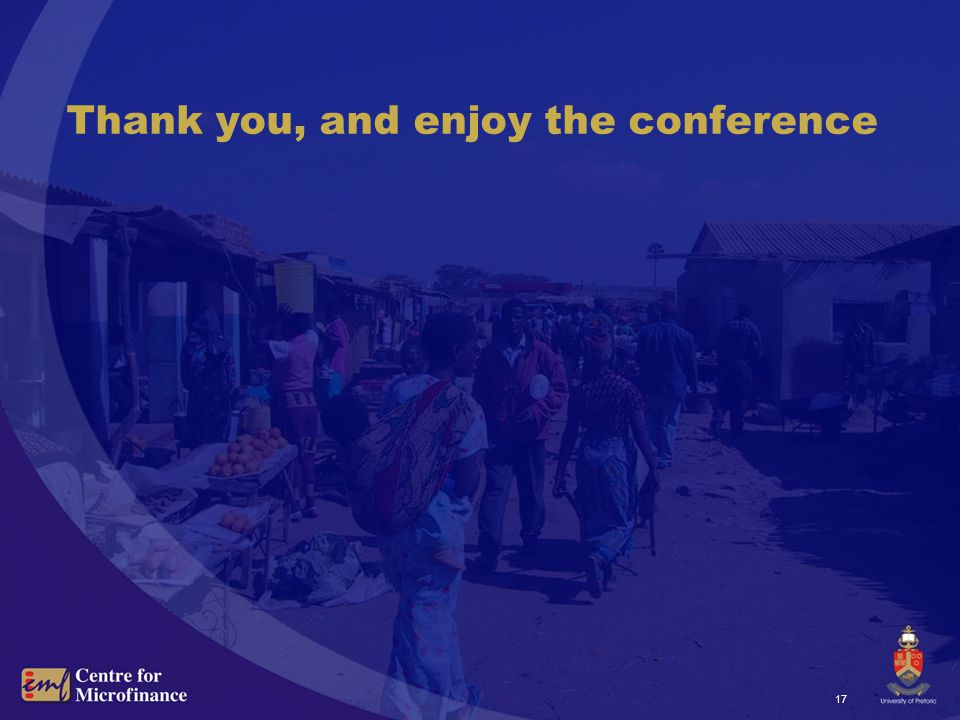 17 Thank you, and enjoy the conference