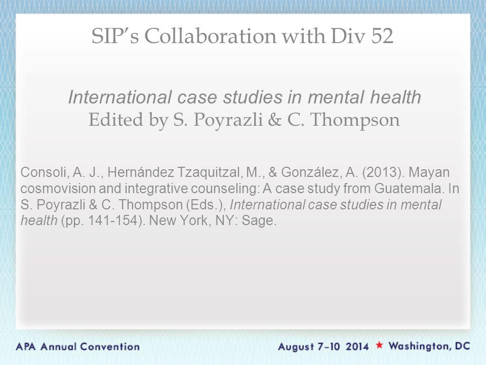 International case studies in mental health Edited by S.