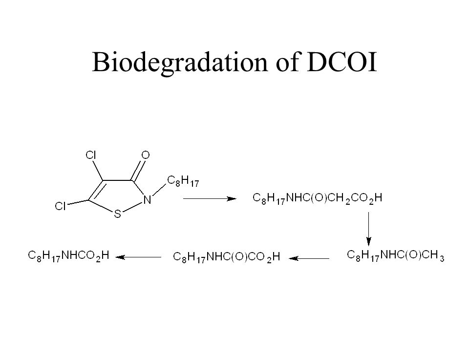 Biodegradation of DCOI