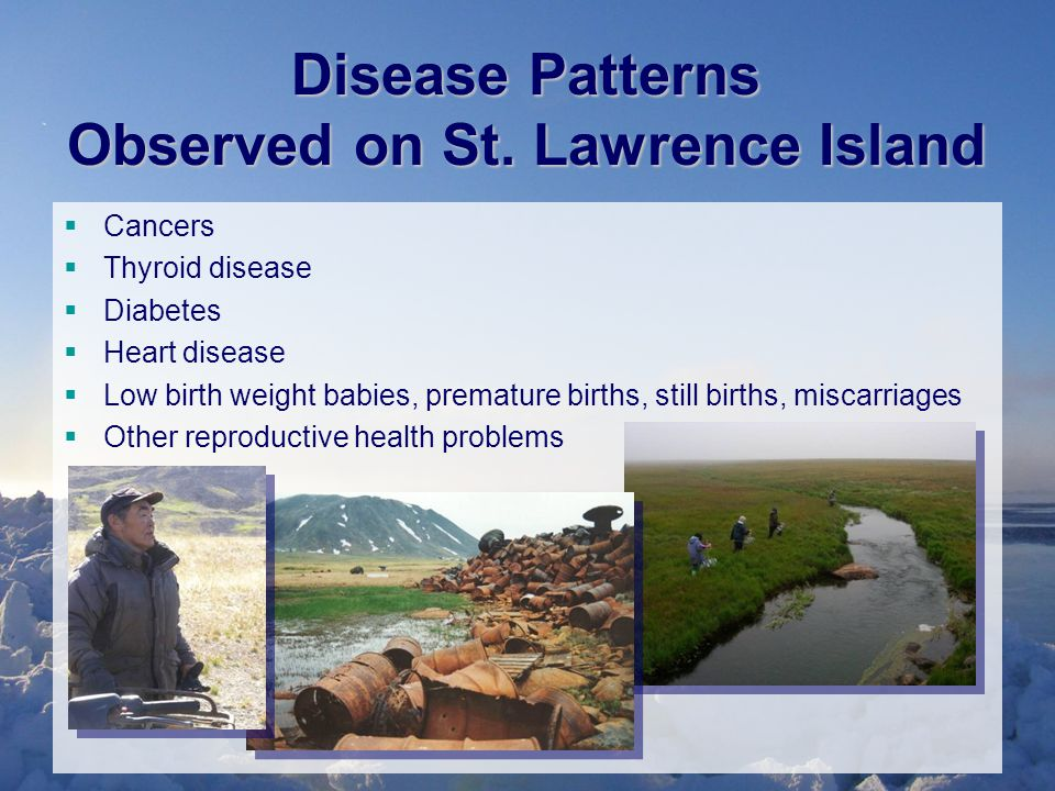 Disease Patterns Observed on St.