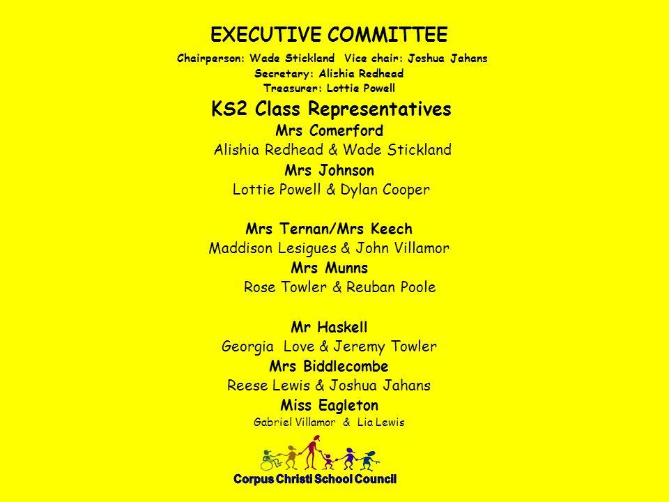 KS1 Class Representatives Miss Loader Ethan Jennison Amelia Rejniak-Choudhury Miss Travers Jaydon Broomhead & Amelia Hornik Miss Sewell Christa Nibigira & Harry Jones Last year's Y R Representatives Kit Mackenzie & Hollie Davis