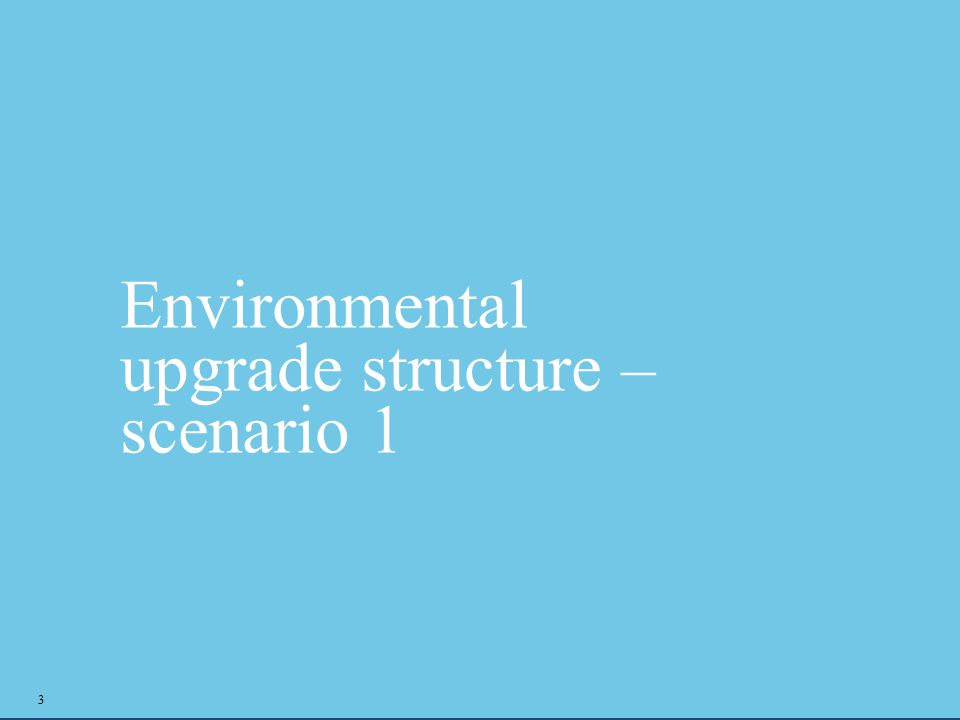 Environmental upgrade structure – scenario 1 3