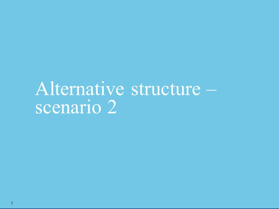 Alternative structure – scenario 2 5