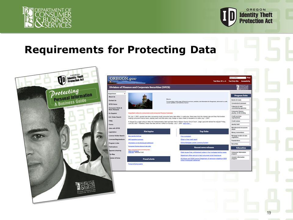 19 Requirements for Protecting Data