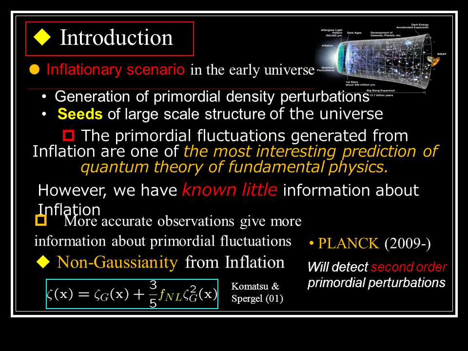 ◆ Basic assumptions Einstein equation after ADM decomposition + Uniform Hubble slicing ◆ Orders of magnitude Input Output First-order equations + time-orthogonal