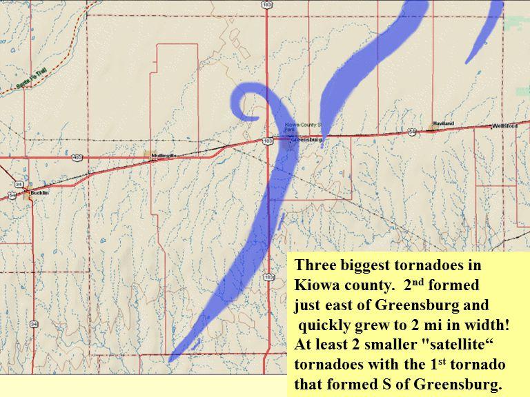 25 Three biggest tornadoes in Kiowa county.
