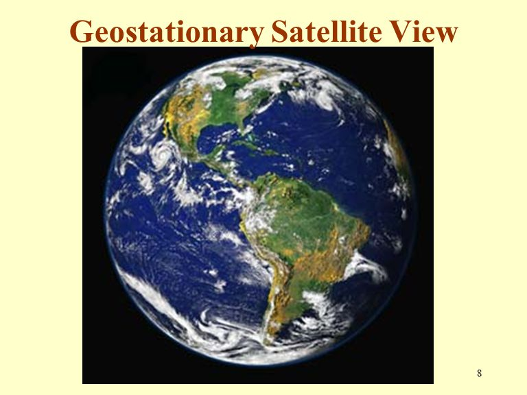 8 Geostationary Satellite View