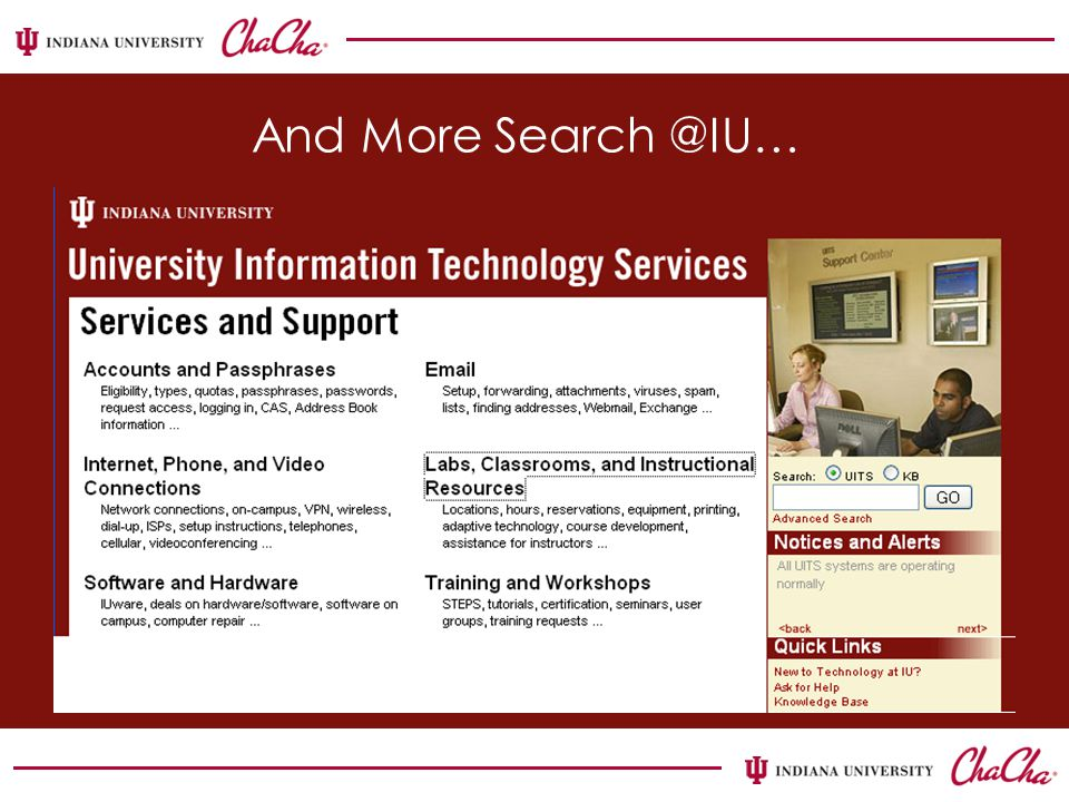 And More Search @IU…