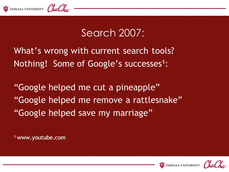 Search 2007: What's wrong with current search tools.