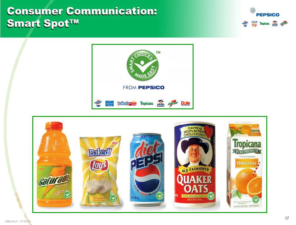 17 04BL45-d1 07/30/04 Consumer Communication: Smart Spot™