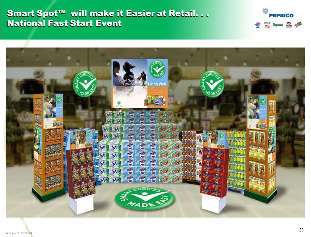 20 04BL45-d1 07/30/04 Smart Spot™ will make it Easier at Retail... National Fast Start Event