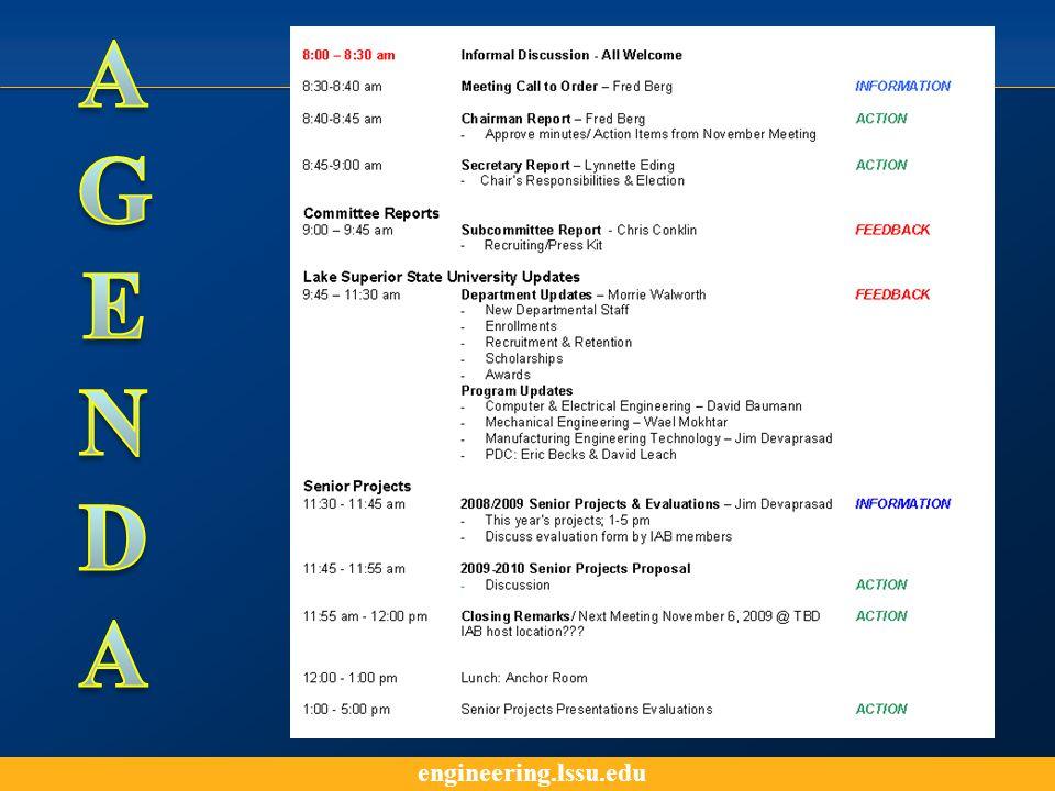engineering.lssu.edu Department of Engineering & Technology Updates Morrie Walworth