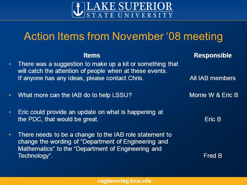 engineering.lssu.edu Electrical and Computer Engineering --- EET Program Updates ---