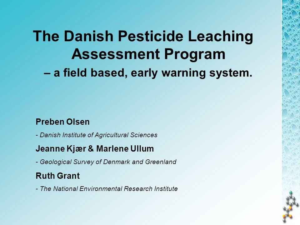 Leaching of pesticides in PLAP