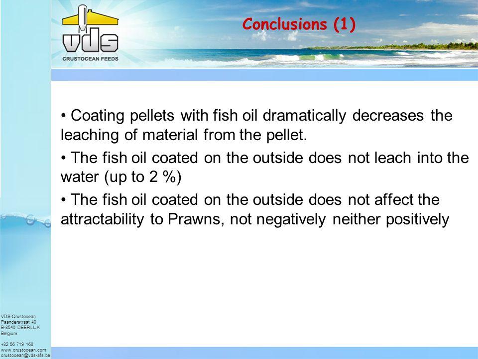 VDS-Crustocean Paanderstraat 40 B-8540 DEERLIJK Belgium +32 56 719 168 www.crustocean.com crustocean@vds-afs.be Results (5B) – Retention of Ascorbic acid in the pellets after submersion in water
