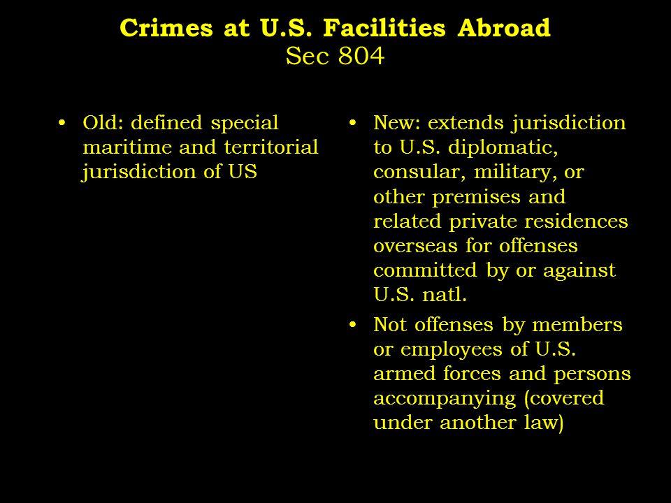 Crimes at U.S.