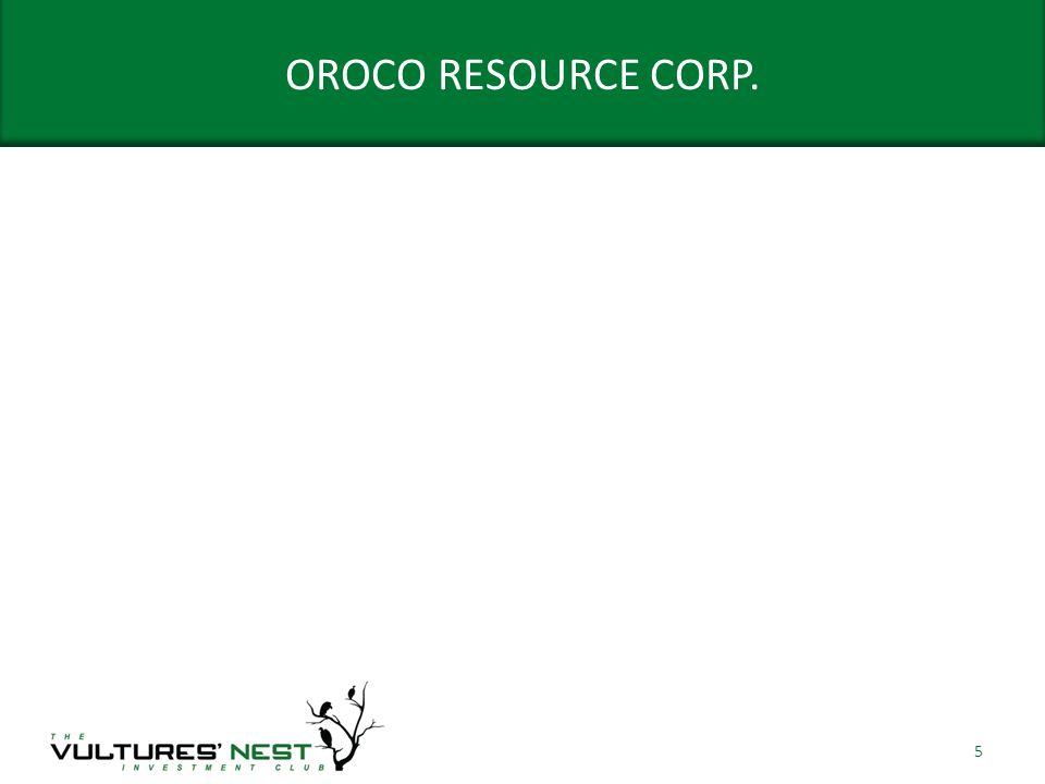OROCO RESOURCE CORP. 5