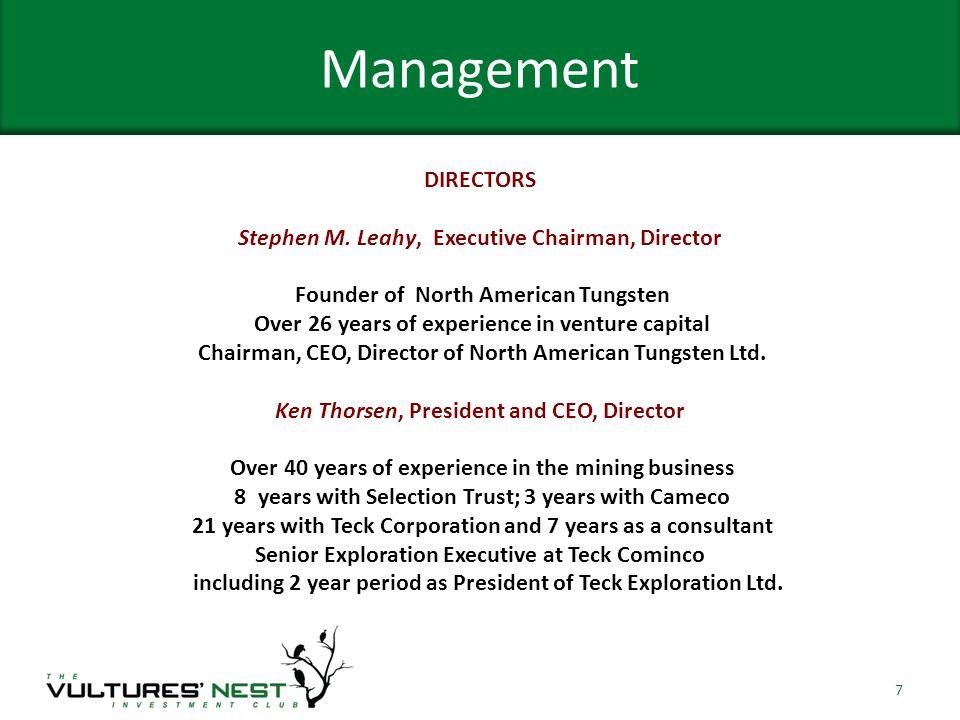 Management DIRECTORS Stephen M.