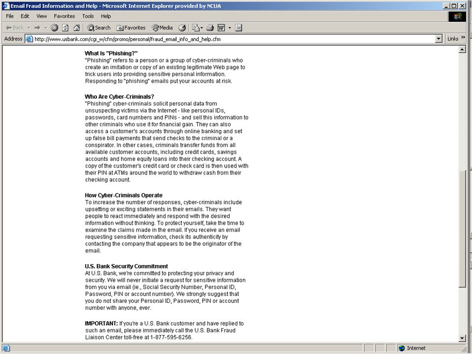 ID Management in Financial Services – May 2005 36 Action Plan Ideas - Education
