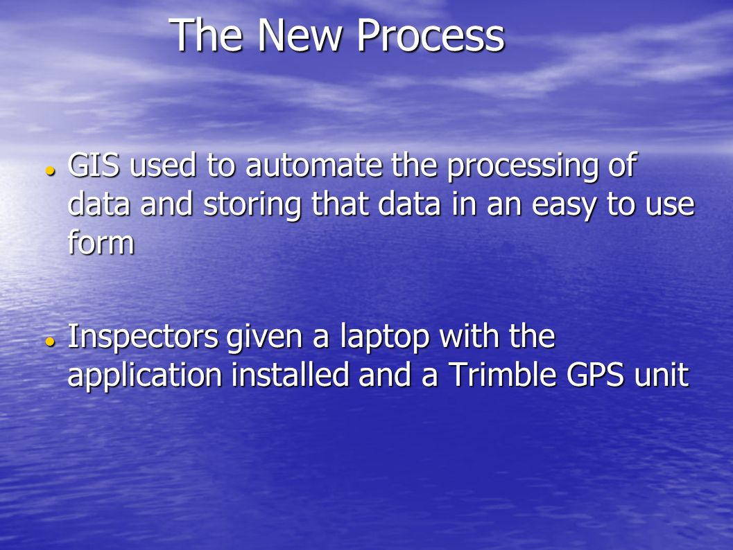 GIS used to automate the processing of data and storing that data in an easy to use form GIS used to automate the processing of data and storing that