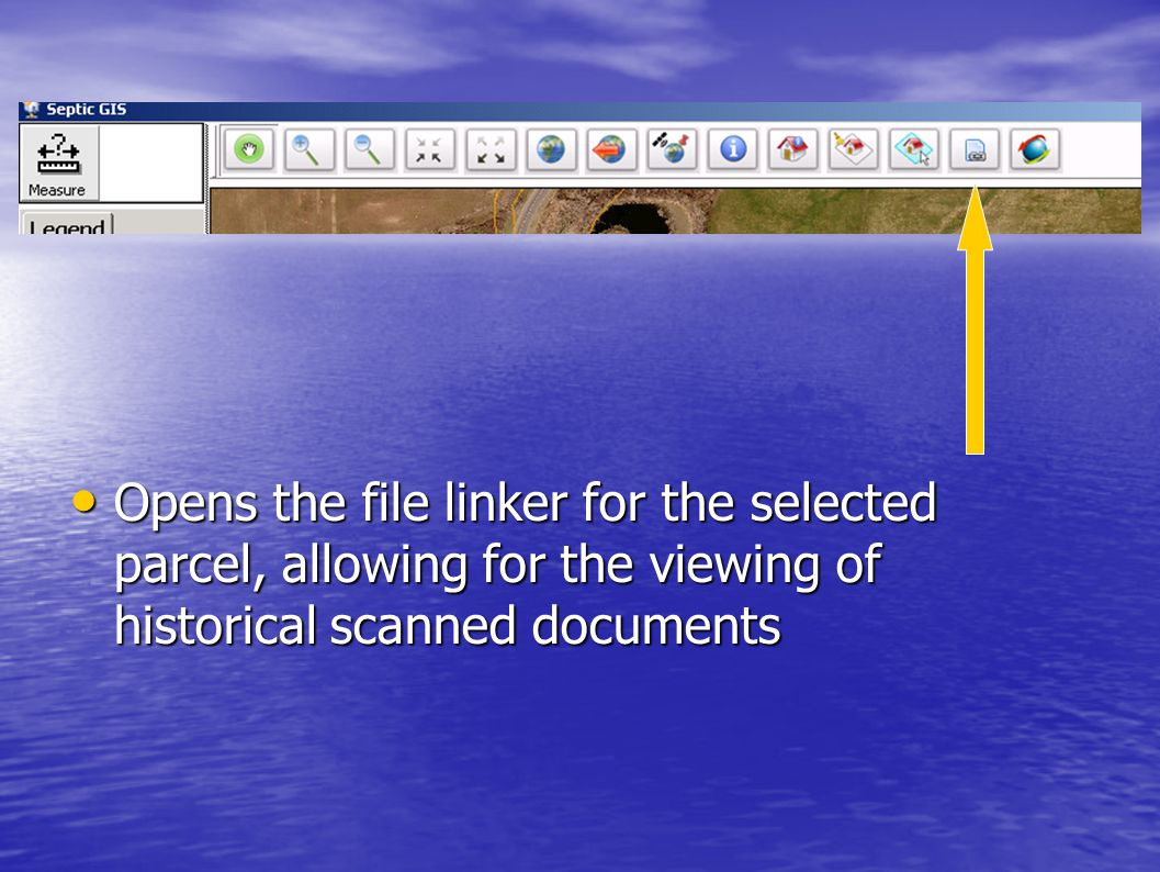 Opens the file linker for the selected parcel, allowing for the viewing of historical scanned documents Opens the file linker for the selected parcel,
