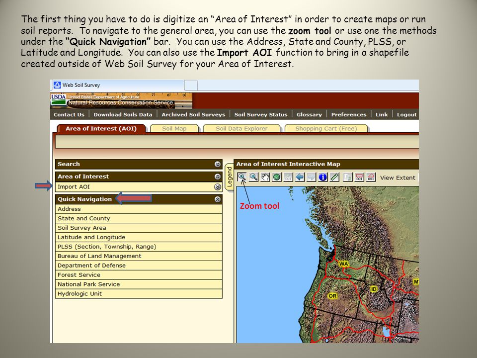 In this example, I used the State and County method to navigate to Franklin County, Washington (click on View).