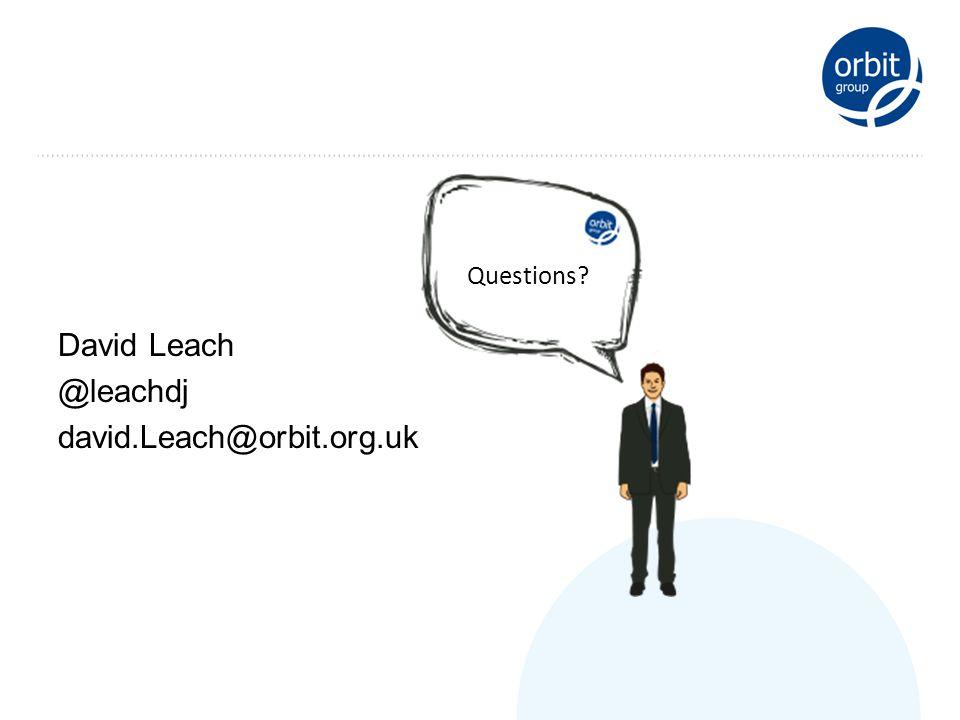 David Leach @leachdj david.Leach@orbit.org.uk Questions