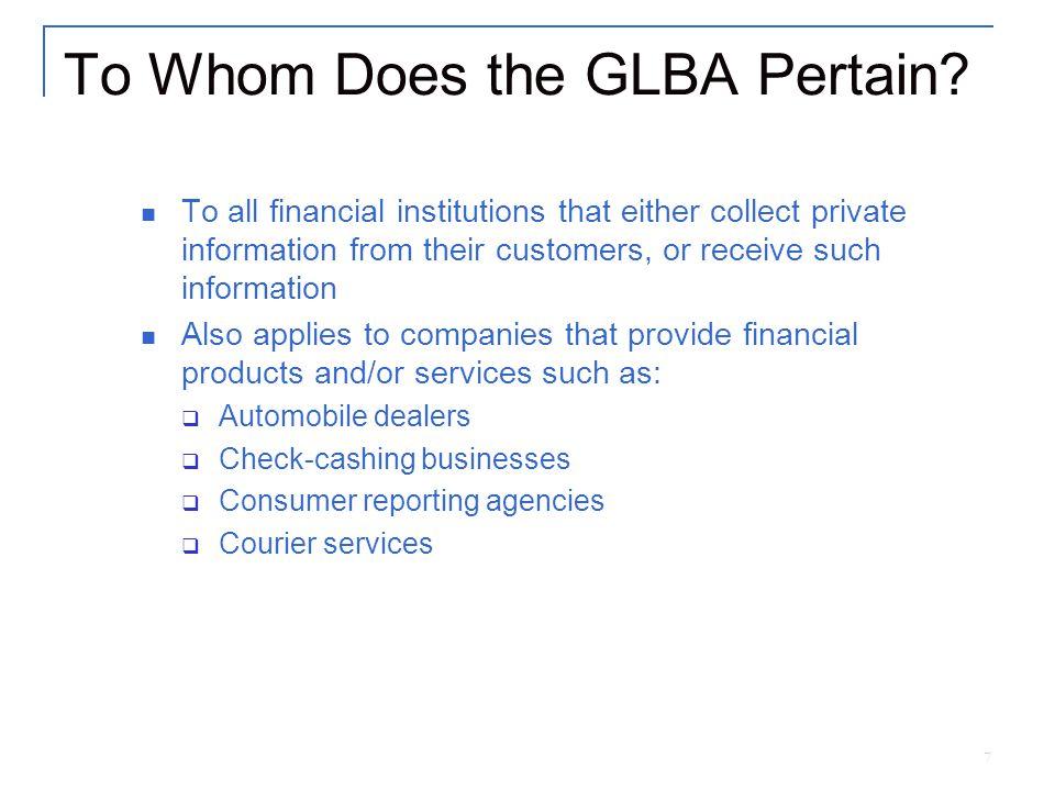 8 Who Enforces GLBA.