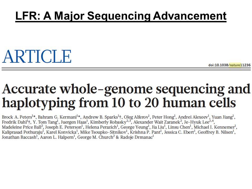 LFR: A Major Sequencing Advancement