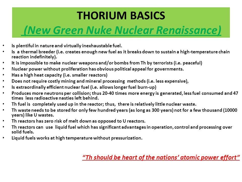 WHY Thorium .