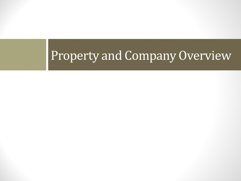Property and Company Overview
