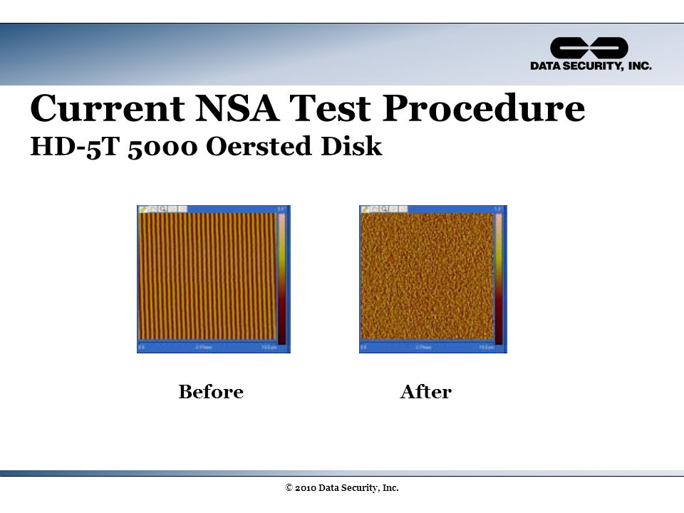 Current NSA Test Procedure HD-5T 5000 Oersted Disk BeforeAfter