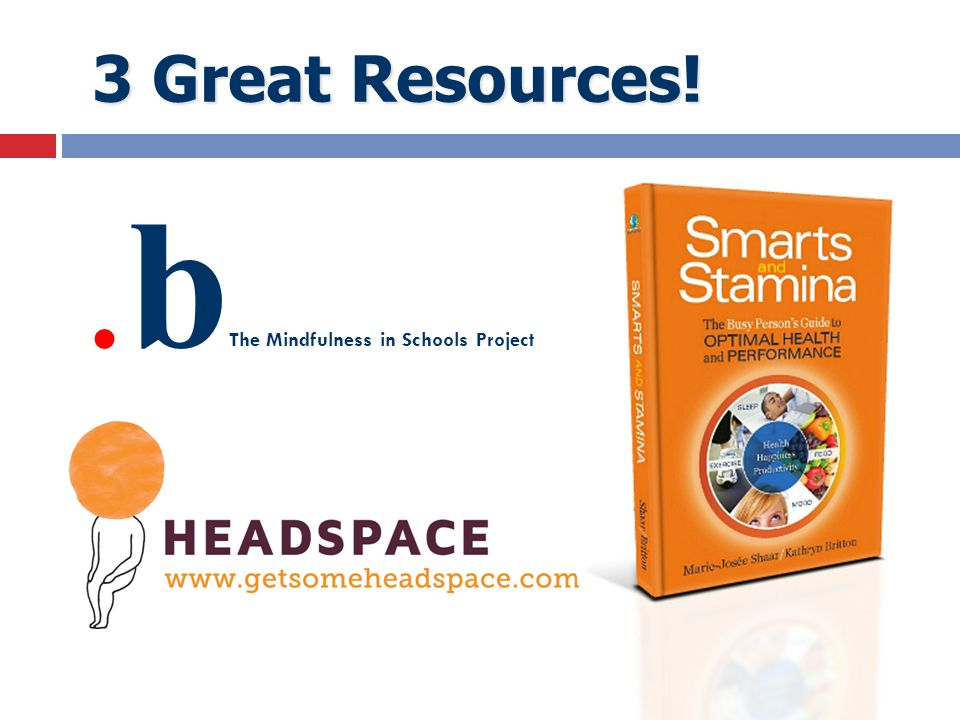 3 Great Resources! 3 Great Resources!.b The Mindfulness in Schools Project