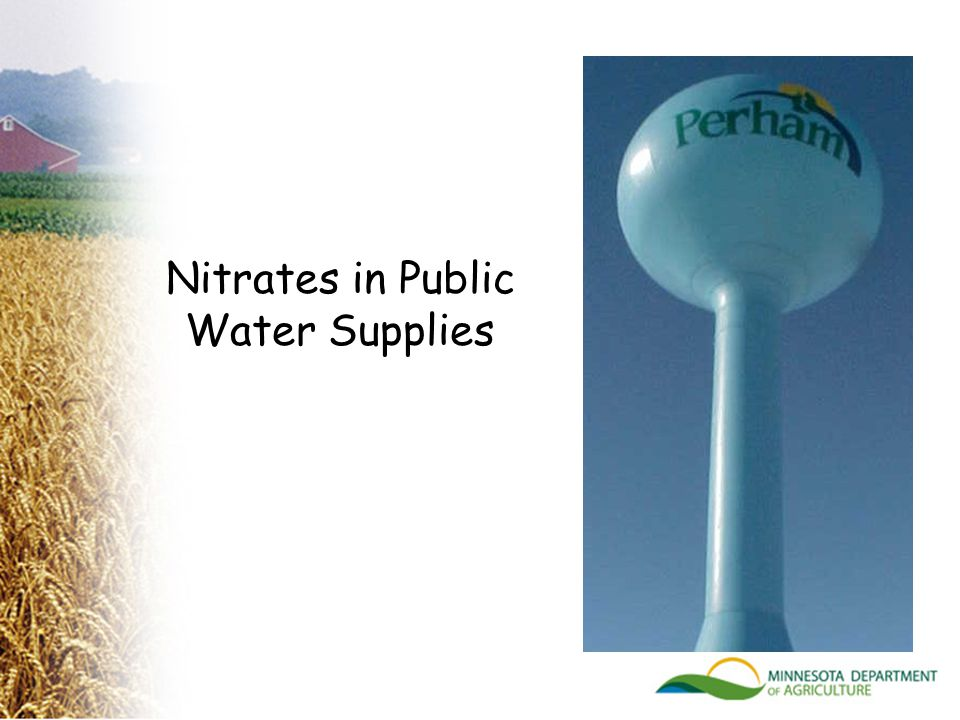 Nitrates in Public Water Supplies