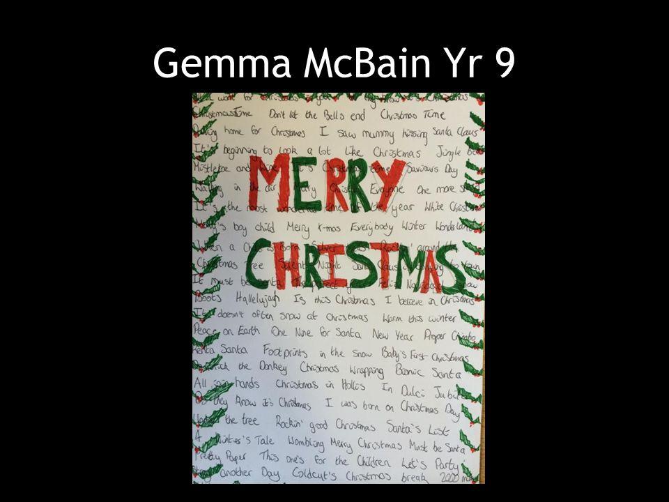 Gemma McBain Yr 9