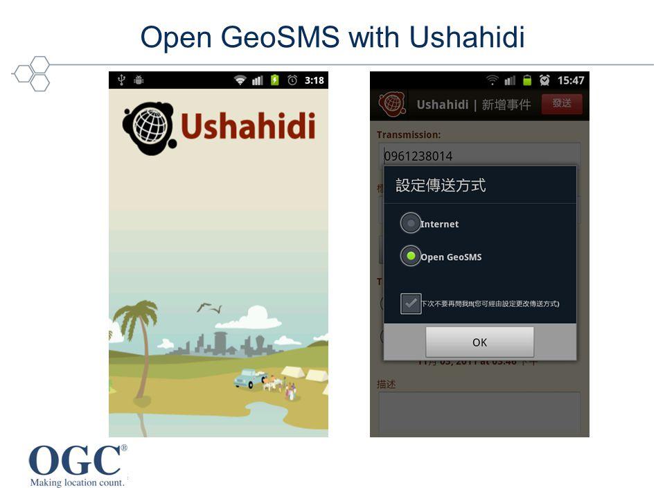 Open GeoSMS with Ushahidi