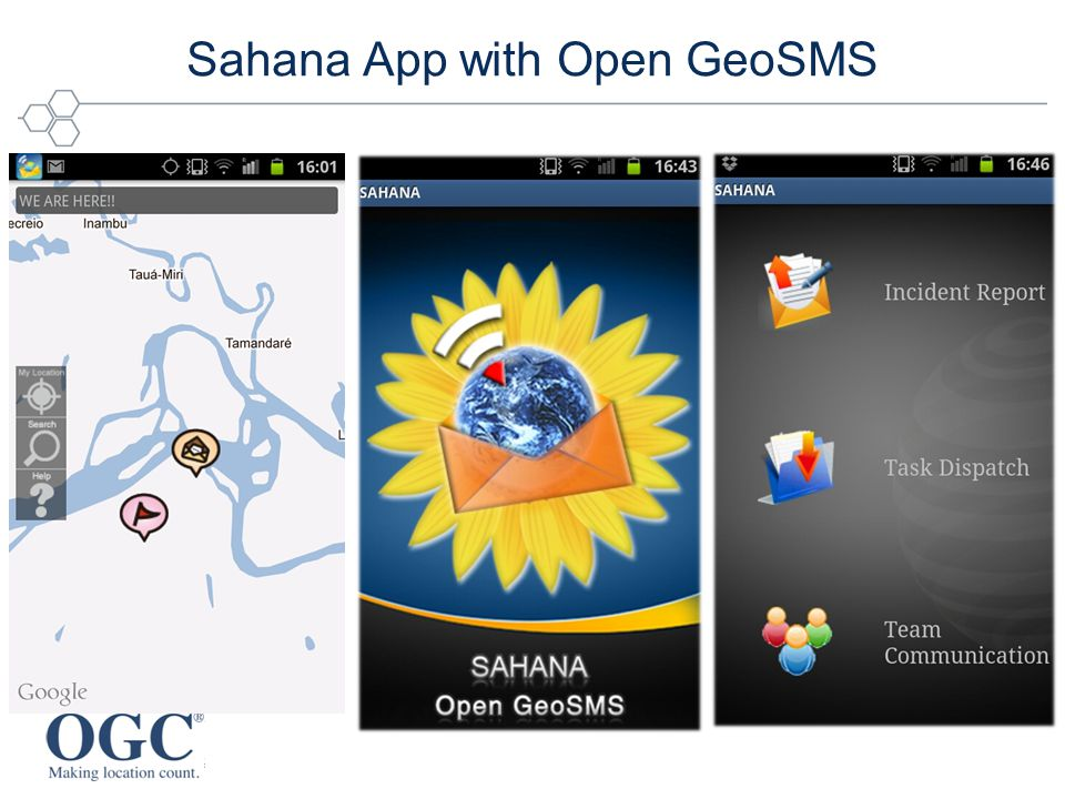 Sahana App with Open GeoSMS