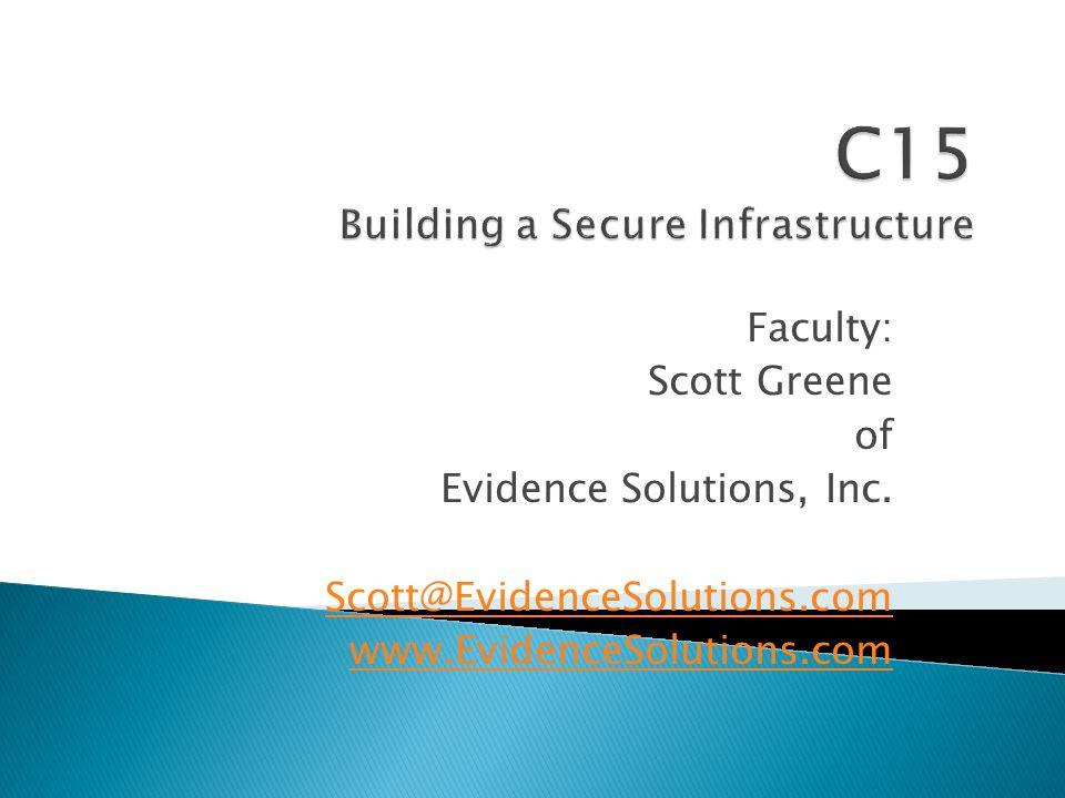 Faculty: Scott Greene of Evidence Solutions, Inc.