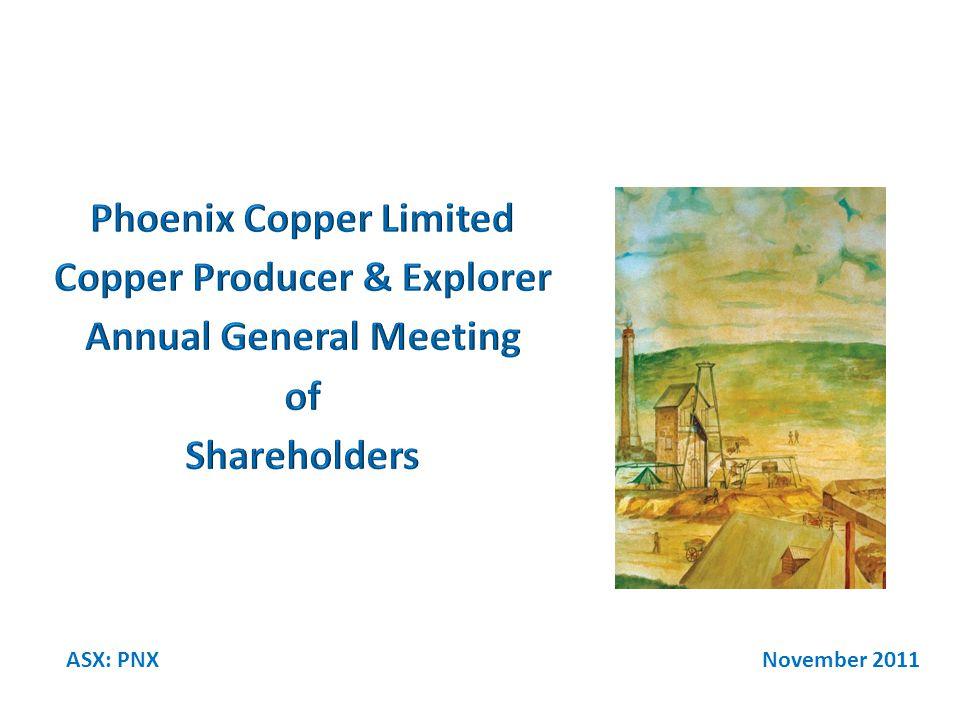November 2011ASX: PNX