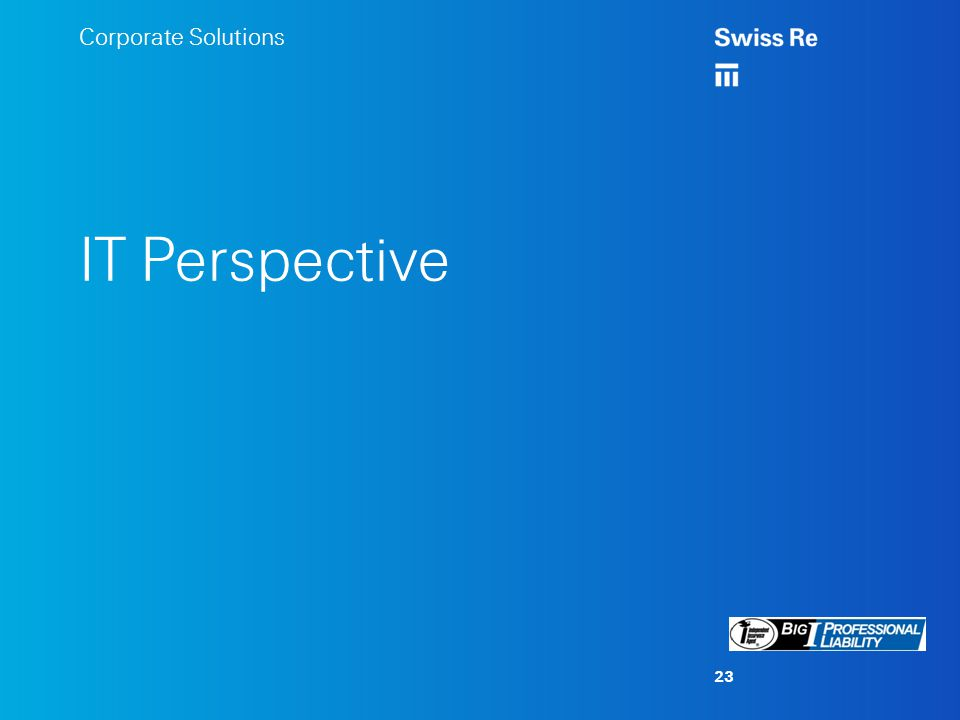 Corporate Solutions IT Perspective 23