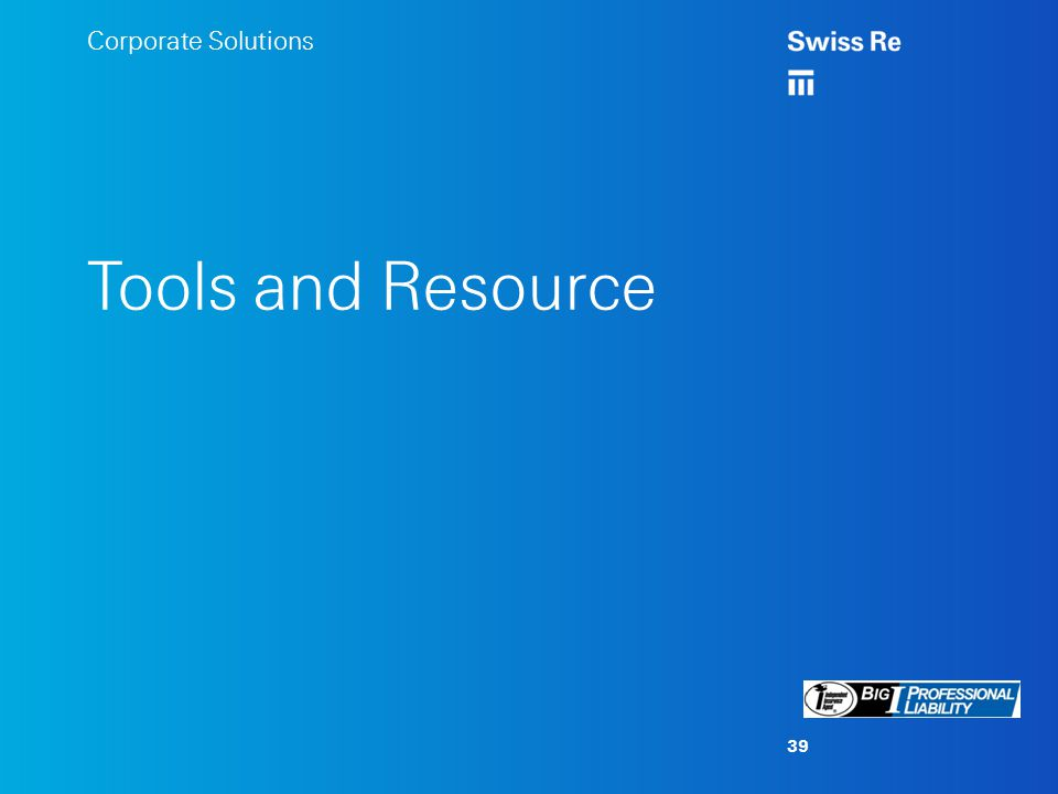 Corporate Solutions Tools and Resource 39