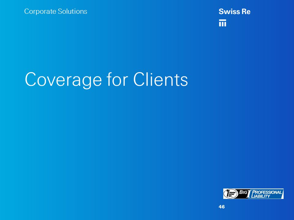 Corporate Solutions Coverage for Clients 46