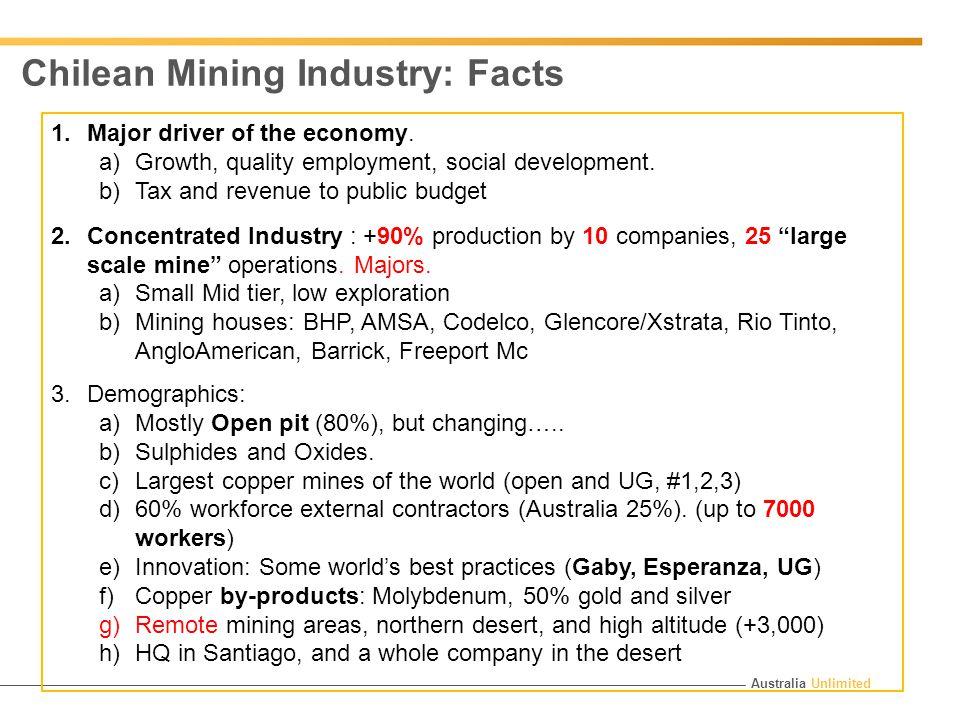 Australia Unlimited 1.Major driver of the economy.