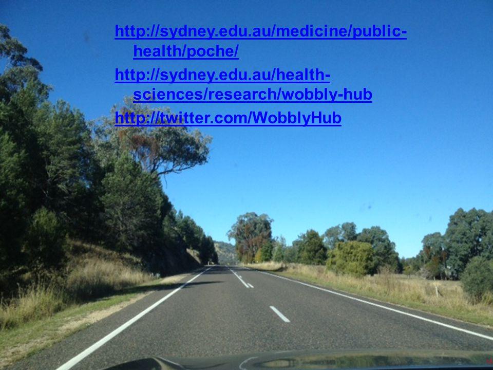 16 http://sydney.edu.au/medicine/public- health/poche/ http://sydney.edu.au/health- sciences/research/wobbly-hub http://twitter.com/WobblyHub 16